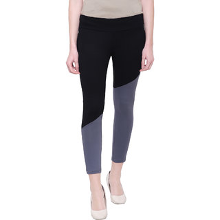 COA Black & Grey Activewear Organic Cotton Yoga Pants