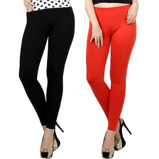 4f9a3a20c5 Buy Women's Churidar Leggings for Cotton Lycra and Bio Wash Regular  Fit/Ultra soft and stretchable (Pack Of 2) Online - Get 65% Off