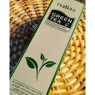 Maliao Face Body Green Tea Foundation-4.5gm