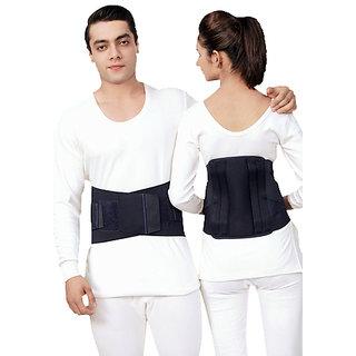 Kudize Lumbar Sacral (L.S.) Belt Contoured Spinal Brace Mild Lower Back Support Black - XXXL (120 to 130 cm)