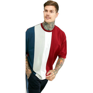 PAUSE Multicolor Solid Round Neck Slim Fit Half Sleeve Men's T-Shirt
