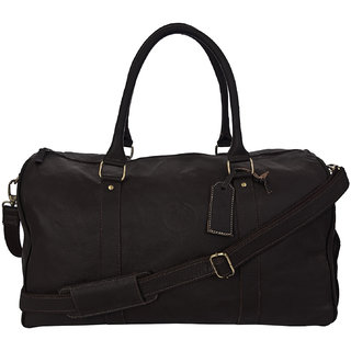 GUGALINDIA Genuine Leather Duffel Bag With Shoe Space