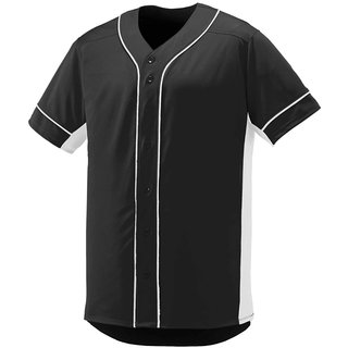 premium selection e6269 7d405 PAUSE Black Solid V Neck Slim Fit Half Sleeve Men's Baseball Jersey