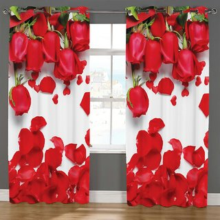Choco Supereb quality Digital Print Curtain pack of 1 7feet