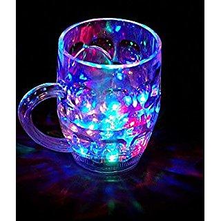gupta Rainbow Magic color cup with LED Light Party Mug
