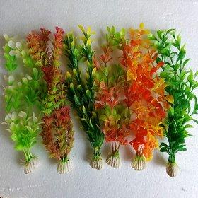 Aquarium Artificial / Plastic Plant 6 in 1 for Decoration - 8 Height