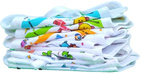 SUNUO New Born Washable Reusable Hosiery Cotton Diapers/Nappy/Langot 0-6 Months (Multicolour) - Pack of 6