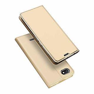 Redmi 6A Golden Flip Cover Standard Quality