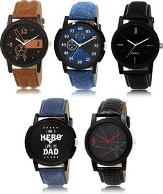 Gen-Z combo of 5 stylish analog watches CO-05-003