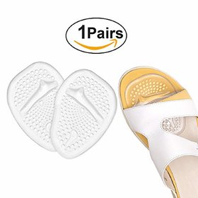 CuraFoot Anti Slip Silicon Shoes Pad Foot Gel High Heels Toe Pads Insole, Ball of Forefoot Insoles, Front Foot Cushions,