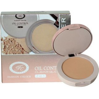 Oil Control 2 In 1 Compact Pressed Powder For Face 15 gm