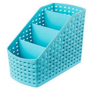 ROYALDEALSHOP 100 NEW BEST Plastic Storage Box Desktop 4 Grid Sub-Grid Storage Case Multi-Function Storage Organizer