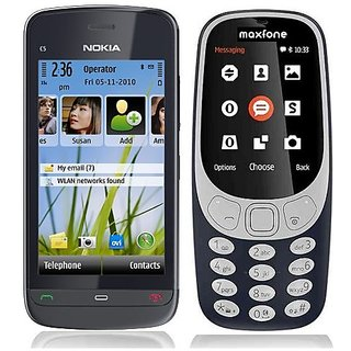 Nokia C503 and Maxfone 3310 Combo / Good Condition / Certified Pre Owned (6 months Warranty)