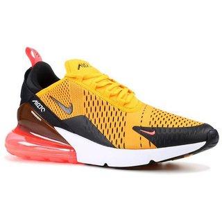 Nike Air Max 270 Yellow Running Shoe