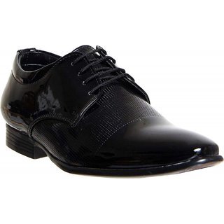 Cyro Black  Patent Leather Formal Shoes For Men