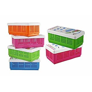 sell net retail Flexi Fold Space Saving Multipurpose Boxes ( pack of 6 )