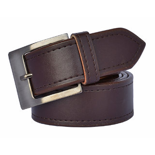Sunshopping men's brown synthetic leatherite needle pin point buckle belt