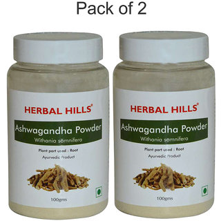 Herbal Hills Ashwagandha Powder - 100 gms (Pack of 2)