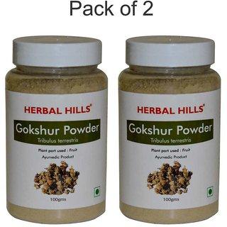 Herbal Hills Gokshur Powder - 100 gms (Pack of 2)