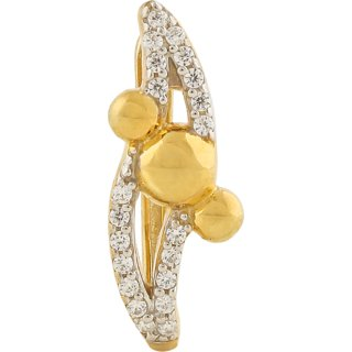 Silveratto Gold Plated Silver CZ Earrings For Womens By BLINGNEST-BOE0026