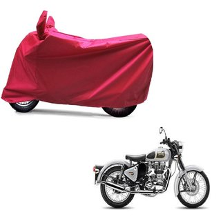 ABP Premium Red-Matty Bike Body Cover For Bullet Classic 350