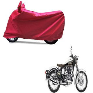 ABP Premium Red-Matty Bike Body Cover For Bullet Classic Chrome