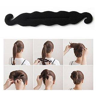 Maahal Hair Bun Maker Magic Clip Twist Turn And Tie Hair Styler Sponge Donut Maker