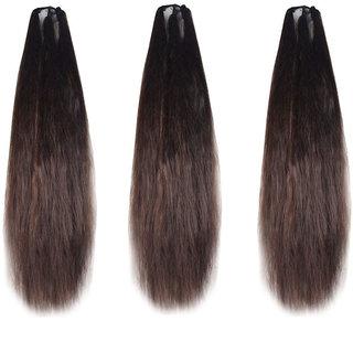 Maahal Set of 3, 42Inchs Brown Hair Parandi for Wedding Accessories