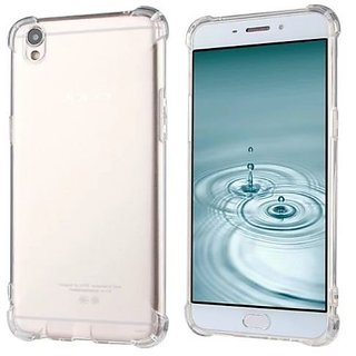 Benicia Silicon Flexible Protective Shockproof Corner Transparent Back Case Cover For Oppo A37f