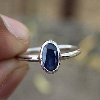 7ff0d64fd Buy Jaipur Gemstone Blue Sapphire Silver Plated Ring Lab Certified Neelam  Stone. Online - Get 59% Off