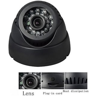 CCTV Dome 24 IR Night Vision Camera DVR with Memory Card Slot Recording