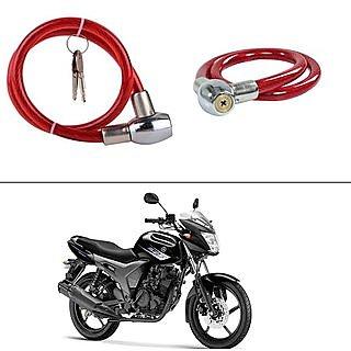 2 keys Lock for Universal Bike helmet - Black (set of 1 )