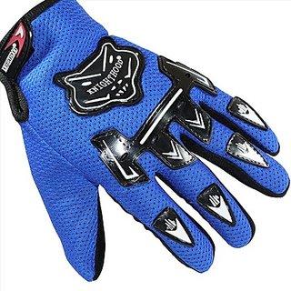 Bike Knighthood Glovs in Full Finger Blue color