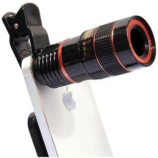Cell Phone Camera Lens - Fish Eye Macro Lens Wide Angle Lens / Universal Clip (Black)