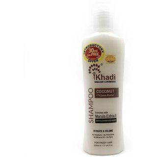 Khadi Virgin Coconut with Cocoa Butter  Marula Extract Shampoo-200ML (Pack of 3)