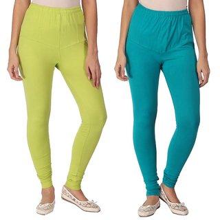 SEAGREEN LEGGING EMPISTO branded full length cotton legging (SEAGREEN, PARROT GREEN)