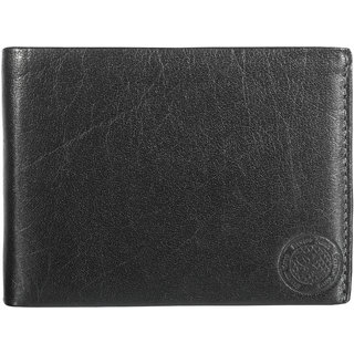 Styler King Men Genuine Leather Wallet Black