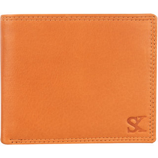 Styler King Men Genuine Leather Wallet Tan