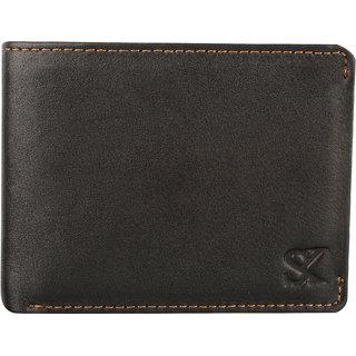 Styler King Men Genuine Leather Wallet Black