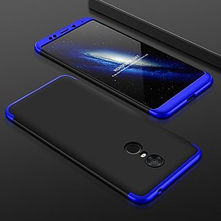 RedMi Note 4 Front Back Case Cover Original Full Body 3 in1 Slim Fit Complete 360 Degree Protection  Black Blue