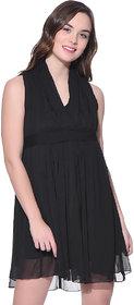 PURYS black pleated dress