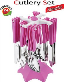 Ankur Swastik Cutlery Set Of 24 Pcs