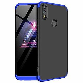 VIVO Y83 Pro Front Back Case Cover Original Full Body 3 in1 Slim Fit Complete 3D 360 Degree Protection Hybrid Black Blue