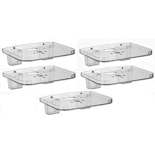 GoodsBazaarAcrylic Clear Wall ShelfSet Top Box Stand(Pack of 5)