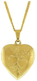 Gold Plated Mirror front finish Heart  Photo Pendant