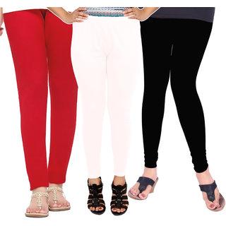 Leggings for Women Girls Soft Cotton (Combo Pack of 3)