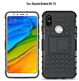 Redmi Y2 - KickStand Hybrid Warrior Armor Defender Back Case Cover For Redmi Y2.