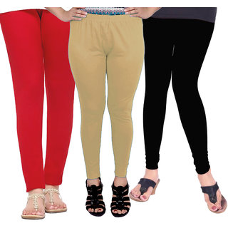 Leggings for Women Girls Soft Cotton Combo Pack of 3 (Wholesale Price in Retail)