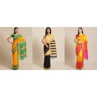 Sharda Creation Multicoured Printed Saree Pack Of 3 Saree