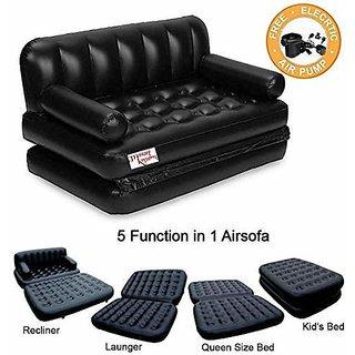 UKANI 5 IN 1 Air Sofa cum Bed with Pump